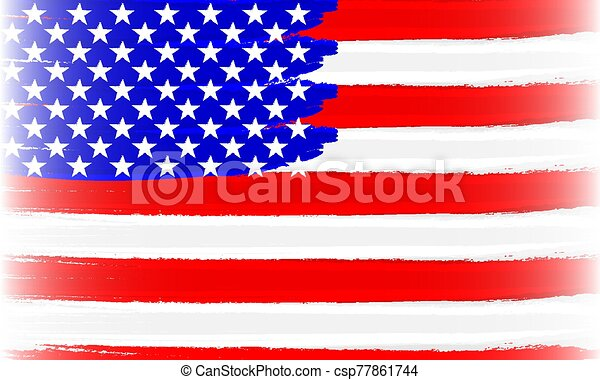 abstract usa flag brushed - csp77861744