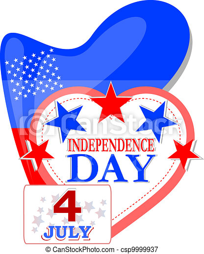 Abstract Usa independence background - csp9999937