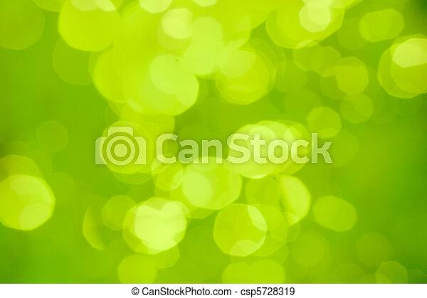 abstract, vaag, bokeh, groene achtergrond, of - csp5728319