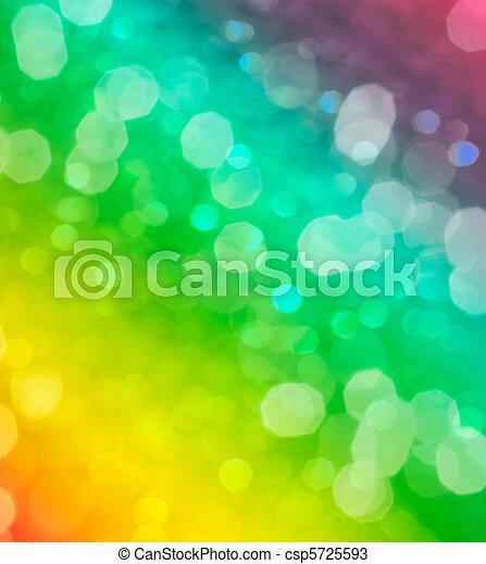 abstract, vaag, bokeh, groene achtergrond, of - csp5725593