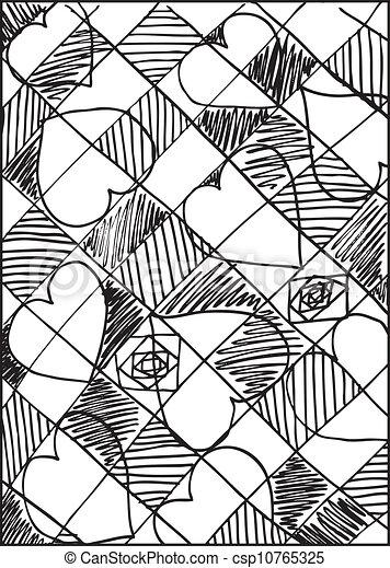 Abstract valentine background. Vector illustration - csp10765325