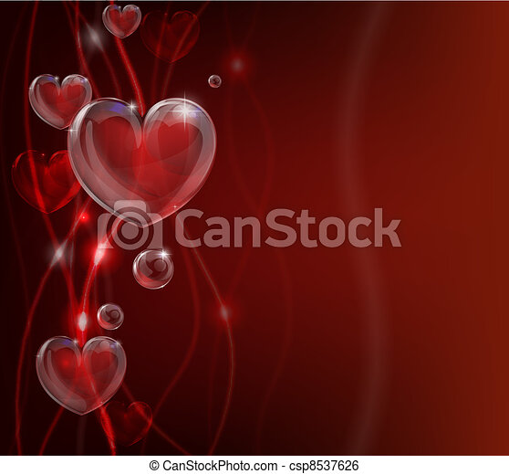 Abstract valentines day heart backg - csp8537626