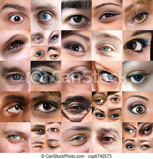 Abstract Variety of Eyes Montage - csp6742573