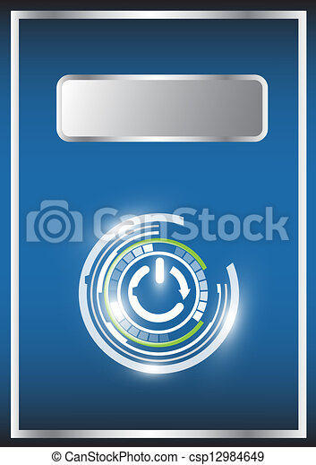 abstract vector and technology background  - csp12984649