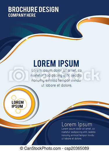 Abstract vector background. Design layout template. Brochure of flyer template - csp20365089