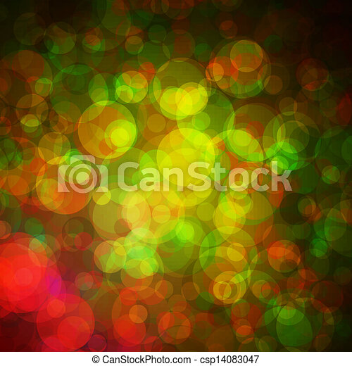 Abstract vector background eps10, colorful lights bubble. - csp14083047
