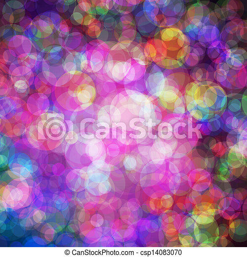 Abstract vector background eps10, colorful lights bubble. - csp14083070
