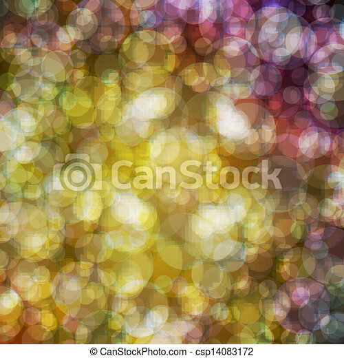 Abstract vector background eps10, colorful lights bubble. - csp14083172