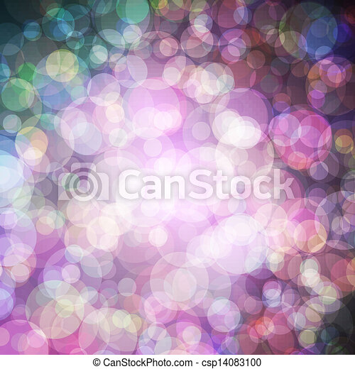 Abstract vector background eps10, colorful lights bubble. - csp14083100