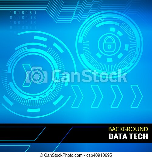 Abstract vector background for data theme - csp40910695