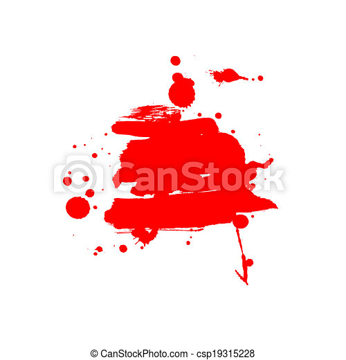 Abstract vector background. Grunge artistic paint banner - csp19315228