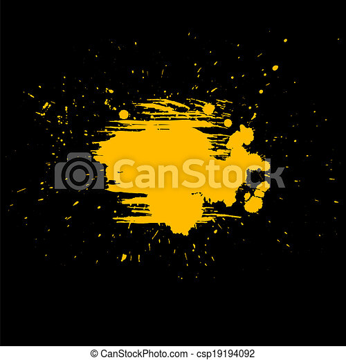 Abstract vector background. Grunge paint banner - csp19194092