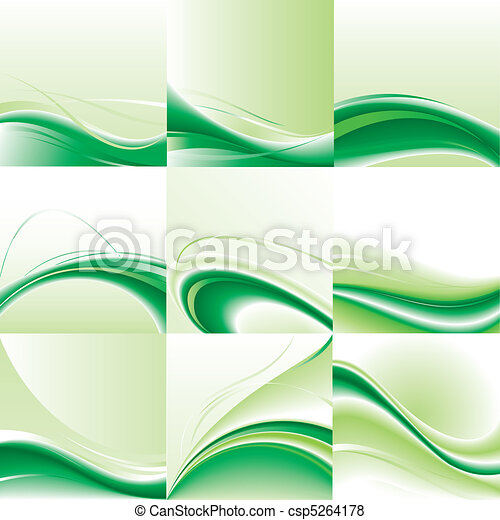 Abstract vector background set. - csp5264178