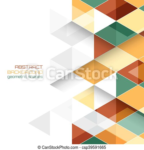 Abstract vector background with geometric shapes