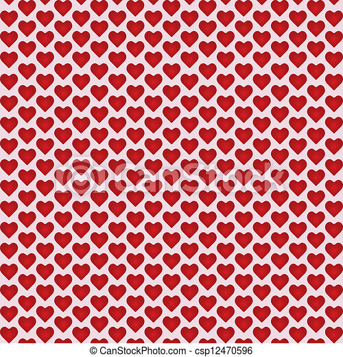 Abstract vector background with hearts. - csp12470596