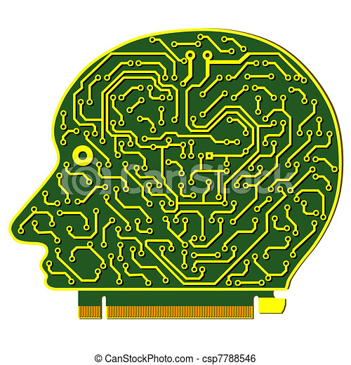 abstract vector background with high tech circuit board - csp7788546