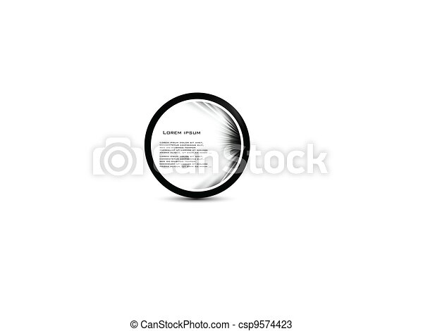 abstract, vector, bocht, cirkel, black. - csp9574423