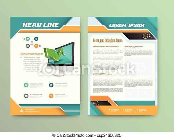 Abstract Vector Brochure Template.  - csp24656325