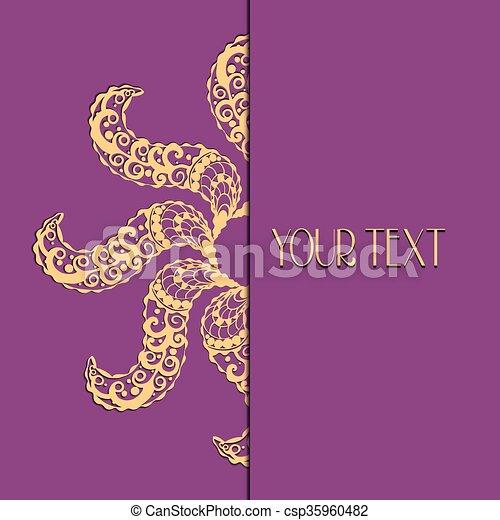Abstract vector circle floral ornament.  - csp35960482