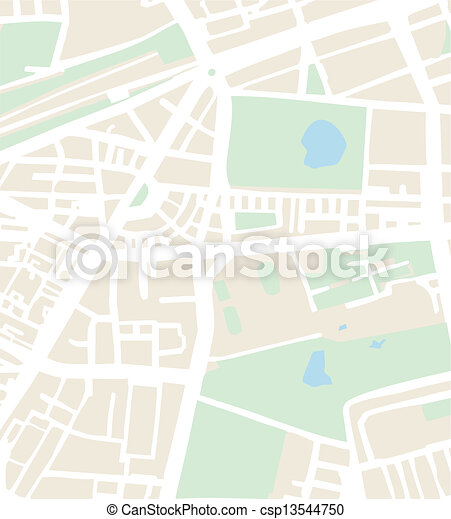 Abstract vector city map or plan - csp13544750