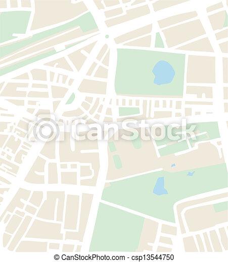 Abstract vector city map or plan - csp13544750