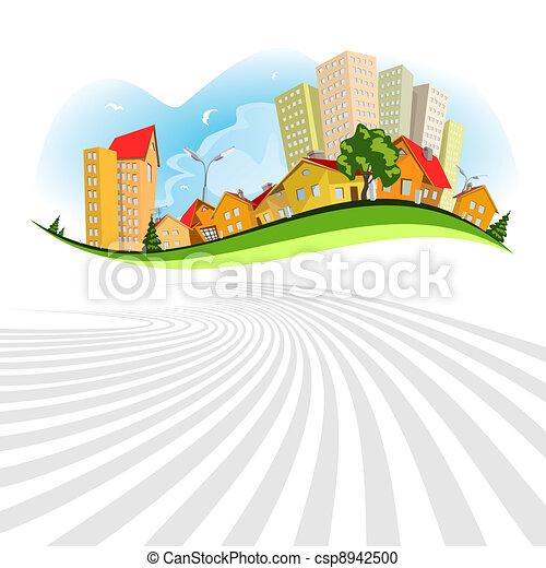 Abstract vector city - summer - csp8942500
