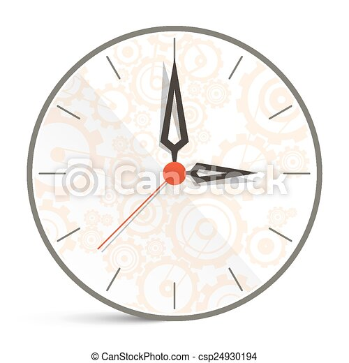 Abstract Vector Clock Illustration Isolated on White Background - csp24930194