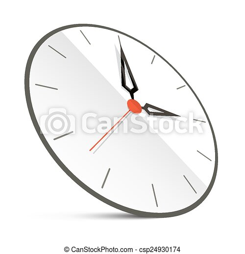 Abstract Vector Clock Illustration Isolated on White - csp24930174