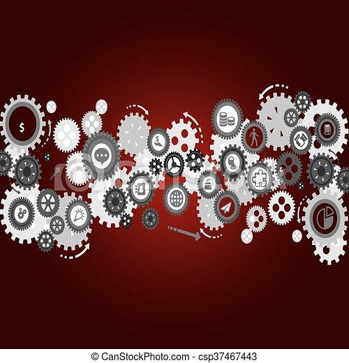 Abstract vector cogs - gears. - csp37467443