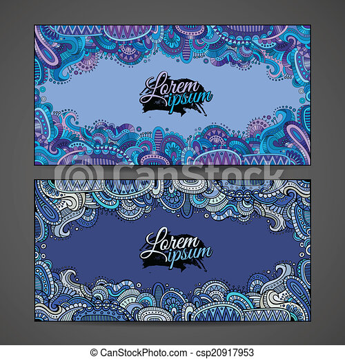 Abstract vector decorative ornamental backgrounds. - csp20917953