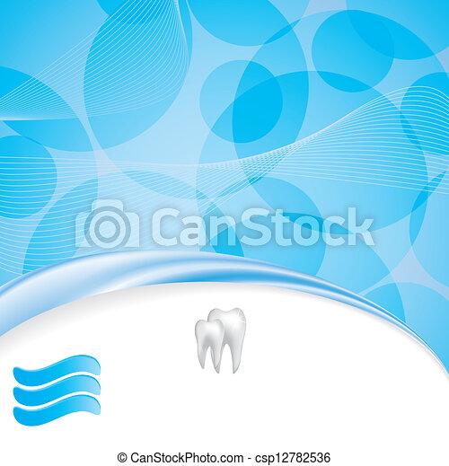 Abstract vector dental illustration - csp12782536