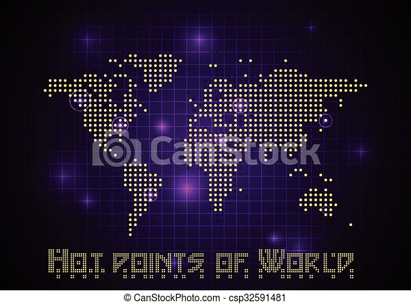 Abstract vector dotted world map with light points abstract vector dotted world map with light points gumiabroncs Image collections