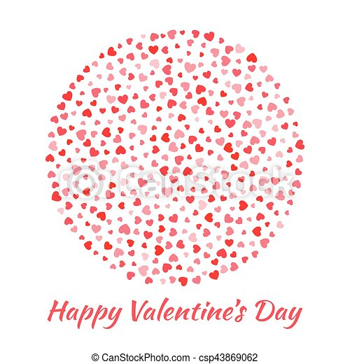 Abstract vector elegant circle sphere round with small red clip abstract vector elegant circle sphere round with small red hearts for valentines day card background stopboris Images