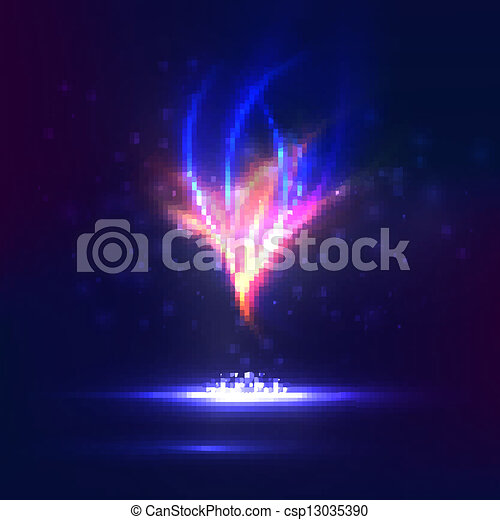 Abstract vector eps10. Creative dynamic, magic fire Illustrations. - csp13035390