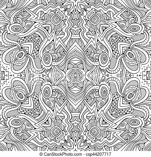 Abstract vector ethnic sketchy background - csp44207717