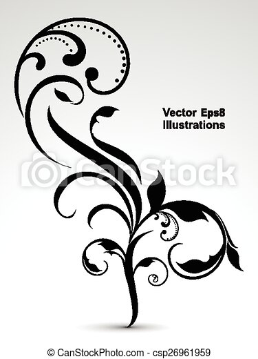 abstract vector floral background  - csp26961959