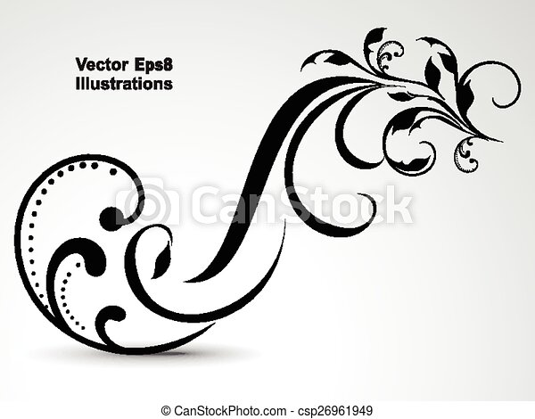 abstract vector floral background  - csp26961949