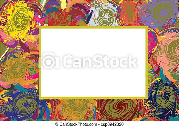 Abstract vector frame - csp8942320
