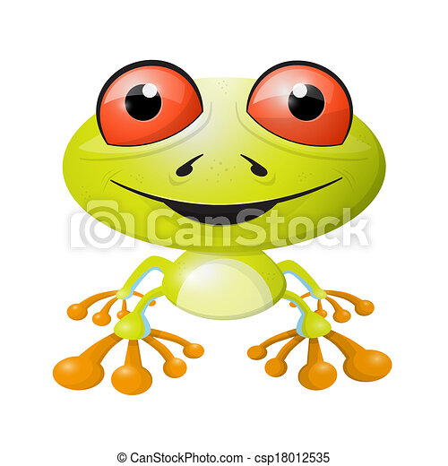 Abstract Vector Frog Illustration Isolated on White Background - csp18012535