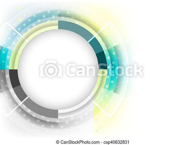 Abstract vector futuristic background with place for your content. - csp40632831