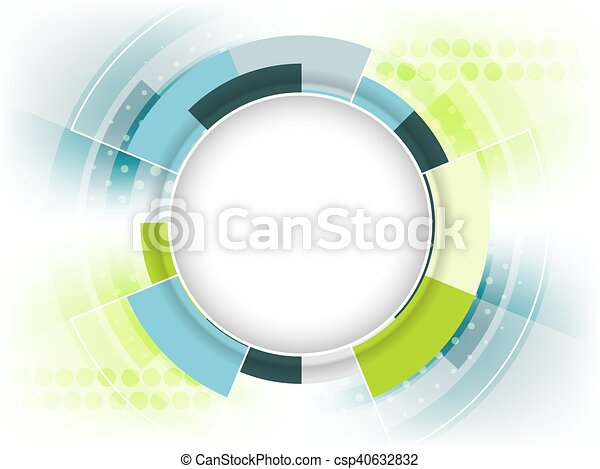 Abstract vector futuristic background with place for your content. - csp40632832