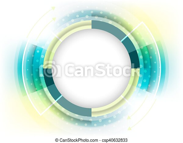 Abstract vector futuristic background with place for your content. - csp40632833