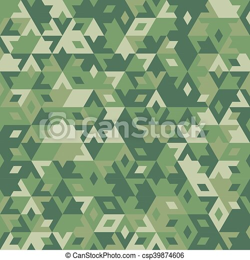 Abstract vector geometric forest seamless background - csp39874606