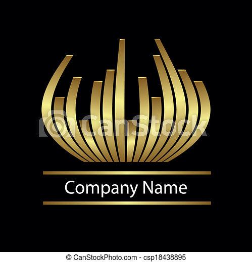 abstract vector gold logo - csp18438895