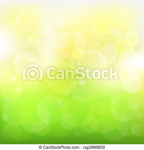 Abstract Vector Green And Yellow Background  - csp3999830