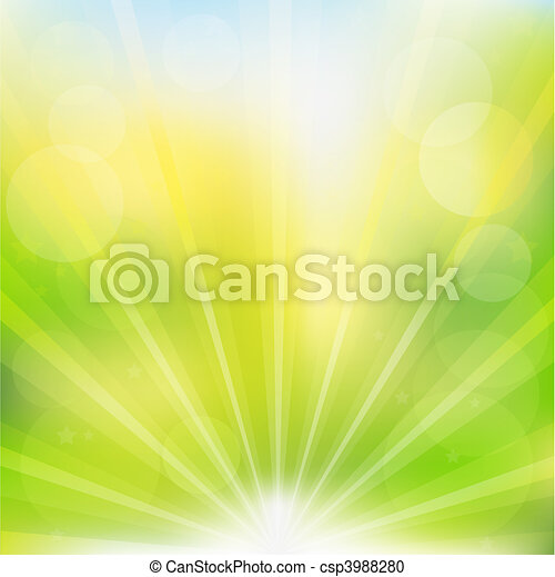 Abstract Vector Green Background - csp3988280