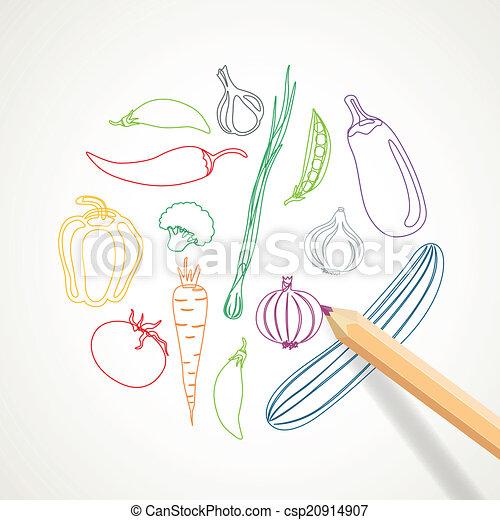 abstract, vector, groentes, achtergrond - csp20914907
