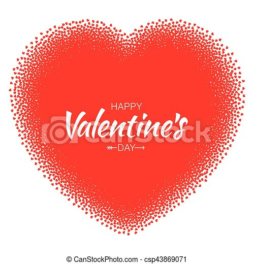 Abstract Vector Grunge Heart Frame With Small Red Hearts For Design Valentines Day Card Background Wedding Invitation Card Vector Illustration