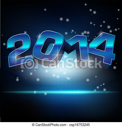 Abstract vector illustration for new year 2014 - csp16753245