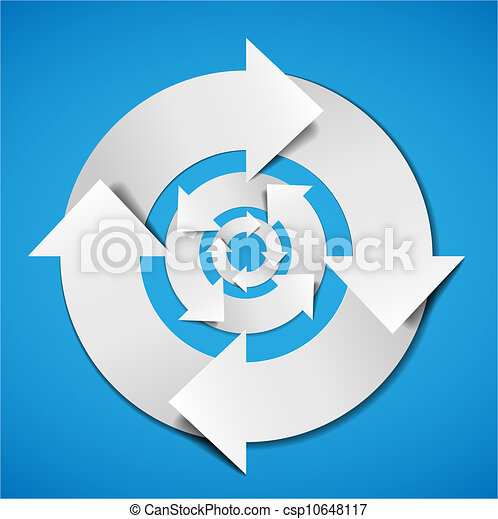 Abstract Vector life cycle diagram - csp10648117